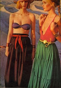 Beach fashions for Vogue, 1976.