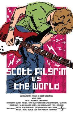 the World Film Poster Scott Pilrim vs. the World Film Poster Film Poster Design, Movie Poster Art, New Poster, Poster Wall, Poster Prints, Comic Poster, Poster Designs, Poster Ideas, Wall Prints