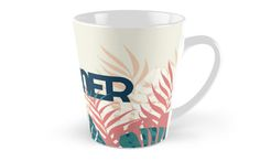 Tropical Summer #redbubble #decor #buyart by designdn Tall Mugs