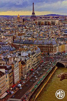 #Paris Saint Michel from Notre Dame