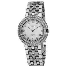 Akribos Xxiv Women's Swiss Quartz Diamond -Tone Bracelet Watch