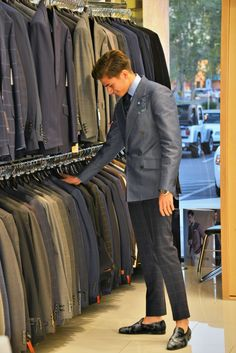 Prussian Blue, Monday Blues, Tailored Suits, Plaid Pants, Stay Classy, Suit Fashion, Blue Plaid, Gq, Double Breasted