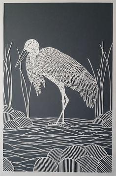 Stork Papercut
