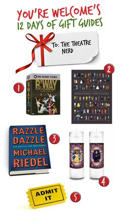 [YOU'RE WELCOME] Gifts for a Theatre Nerd