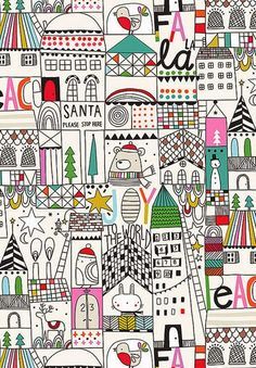 Print & Pattern blogs the xmas wrapping papers by The Paper & Cloth studio
