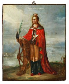 St Catherine Of Alexandria, Sacred Art, Religious Art, Narnia, Saints, Angels, Statue, Artwork, Painting
