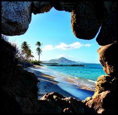 An incredible view from #Nevis in the #Caribbean looking towards #St.Kitts just a short distance away.