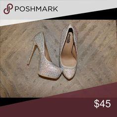 Heels Gorgeous Cinderella heels, Charlotte Russe Brand. Worn once, sparkles, eye catcher. Charlotte Russe Shoes Heels