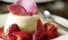 Rosewater Panna Cotta with Red Berry Compote - harrods