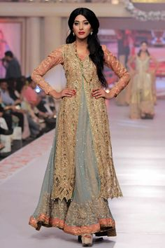 2015 Telenor Bridal Couture Week Uzma Babar Wedding Collection Pictures