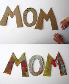 Whether you say it Mum...or Mom...this is an easy craft project for even the littlest munchkin!