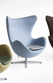 Der berühmte Egg Chair von Fritz Hansen wurde in unserer Polsterei neu aufgefrischt.