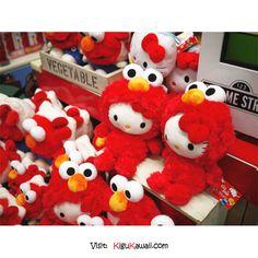 KAWAII~ Hello Kitty in Elmo Costume ヽ(^o^)ノ Follow Kigu Kawaii for more cute stuff! #kigukawaii #cute #kawaii #adorable #HelloKitty #Elmo #Costume #halloween #kigurumi #kigu #onesie #style #design