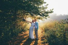 "Wildflower fields at Crockett's Run in Hocking Hills were a perfect and beautiful place to take some intimate Mr. and Mrs. pictures after we said, ""I Do""! http://www.crockettsrun.com/ Photo Credit: Alec Fritz Photo"