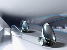 Egg-shaped cars for a green future