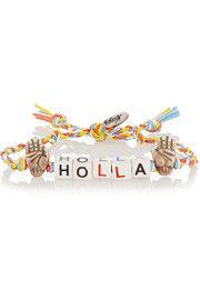 Venessa ArizagaHolla ceramic and silver-plated bracelet