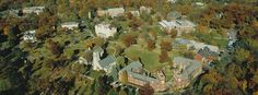 Aerial shot of Middle Campus, Lake Forest College