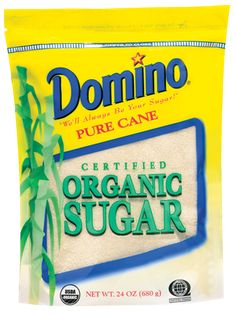 Domino® Organic Sugar is harvested and milled on the same day from certified organic sugar cane. Starting with a special single crystallization process that preserves the flavor of sun-sweetened suga