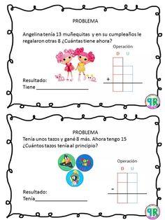 Problemas para I grado | Profe Yano 1st Grade Math Worksheets, Subtraction Worksheets, Math 2, Math Class, Kindergarten Math, Math Education, Maila, Math Facts, Business For Kids