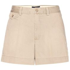 Polo Ralph Lauren Cotton Shorts ($135) ❤ liked on Polyvore featuring shorts, polo ralph lauren shorts, cotton shorts, beige shorts and polo ralph lauren