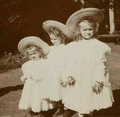 "Grand Duchesses Maria,Tatiana and Olga Nikolaevna Romanova of Russia.   ""AL"""