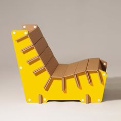 #Anita is a #cardboard #armchair available in #yellow and many other colours. #design #home #furniture #ecoandyou