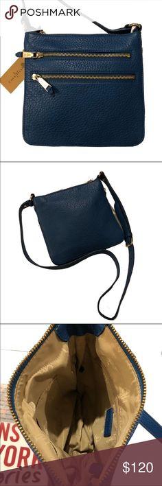 Cole Hana Village II Sheila Crossbody Bag. NWT Seaport blue leather. Adjustable straps. NWT Cole Haan Bags Crossbody Bags