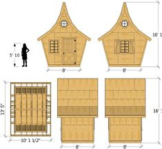 Building A Shed 376683956337569850 - Rosemary Shed Plan Fairy Houses, Play Houses, Storybook Gardens, Shed Windows, Clutter Solutions, Simple Shed, Shed Kits, Wooden Shutters, Wooden Sheds