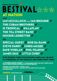 Bestival at Nation – our heartfelt fundraising night following the tragic coach crash that took the lives of Michael and Kerry, and left Zach with life-changing injuries – Bestival family, let's come together and raise the roof for them x