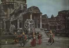 Cambodian dancers in traditional clothing perform on a terrace at Angkor Wat, near Siam Reap, Cambodia. PHOTOGRAPH BY W. ROBERT MOORE