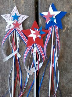 Fourth of July wands
