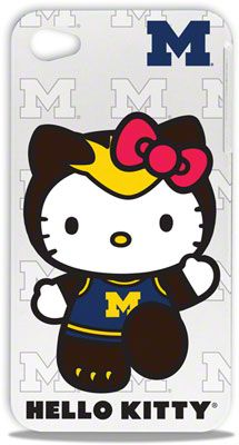 $30 Michigan Wolverines Hello Kitty iPhone 4/4S Hard Shell Case  MY ABSOLUTE TWO FAVORITE THINGS!!!!