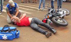 BLOG DO MARKINHOS: Acidente de moto Titan na Avenida Brasil em Manoel...