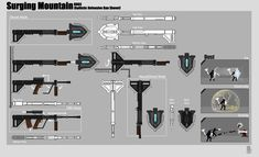 Rwby Oc, Weapon Concept Art, Elsword, Cyberpunk, Weapons, Objects, 1, Tech, Characters