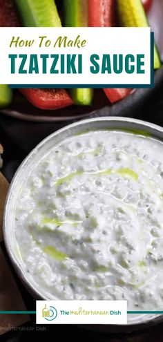 This Tzatziki Sauce can be used for so many things! It is easy to make and you will see it go quickly, it is that good! #tzatzikisauce #homemadesauces #dip #condiments Mediterranean Side Dish Recipe, Mediterranean Dishes, Mediterranean Diet Recipes, Healthy Comfort Food, Healthy Meals For Kids, Healthy Dishes, Food Dishes, Vegetarian Recipes Easy, Clean Eating Recipes