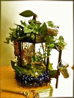 faery lanterns | Fairy House out of a lantern