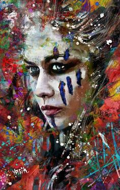 "Saatchi Art Artist yossi kotler; Painting, ""wolf worier"" #art"