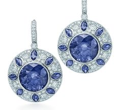 Tiffany & Co.   Item   Sapphire and diamond earrings in platinum