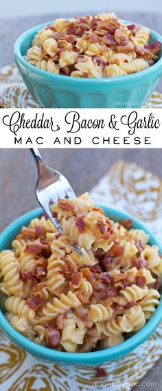 Cheddar, Bacon and Garlic Macaroni and Cheese