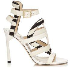 White Elaphe, Leather and Zebra Print Pony Sandals | Vanquish | Spring Summer 15 | JIMMY CHOO Shoes #shoes #omg #beautyinthebag #heels