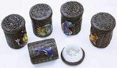 Smoked Out Pipes | Online Head Shop - Fimo Glass Stash Jars, $19.99 (http://www.smokedoutpipes.com/fimo-glass-stash-jars/)