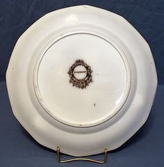 Flow Mulberry Ironstone Plate, Alcock in Vincennes Pattern 1857 Flow, Decorative Plates, Tableware, Pattern, Dinnerware, Tablewares, Patterns, Dishes, Model