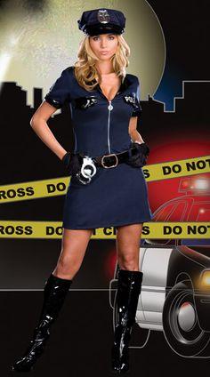 Police Officer Policewoman Adult Halloween Costume - Alexa