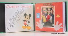 DIY: Disney Autograph Book. Includes free font downloads and a character map to get autographs