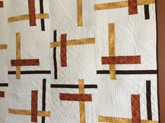 Tortilla Strips by Atkinson Designs. Pieced and quilted by Jennifer Dyck,  Modern Mennonite Quilting.