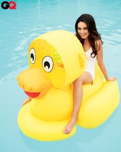 Mila Kunis...on a giant rubber ducky. The Sexiest Women of 2012: Photos: GQ