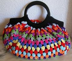 Big Granny Crochet Bag - love this, wish there was a pattern