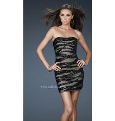 $498.00 LaFemme Short Dress at http://viktoriasdresses.com/ Through John's Tailors