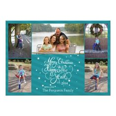 Shop 2014 5 photo Christmas holiday card blue stripes created by Jamene. Personalize it with photos & text or purchase as is! Custom Christmas Cards, Christmas Photo Cards, Christmas Photos, Christmas Themes, Holiday Cards, Holiday Gifts, Merry Christmas And Happy New Year, Blue Christmas, Christmas Holidays