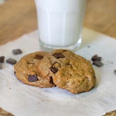 Single Serving Buckwheat Cookies: 2 level Tablespoons buckwheat flour 1 Tablespoon sucanat, or coconut crystals 2 teaspoons melted coconut oil, or butter 1 teaspoon water ¼ teaspoon vanilla extract pinch of sea salt 2 teaspoons dark chocolate chips